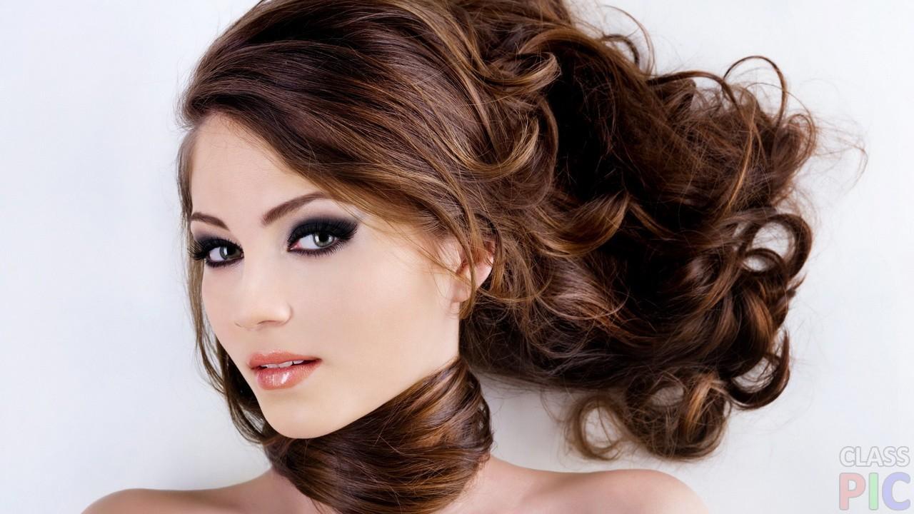 Длинные волосы с чёлкой (23 фото)