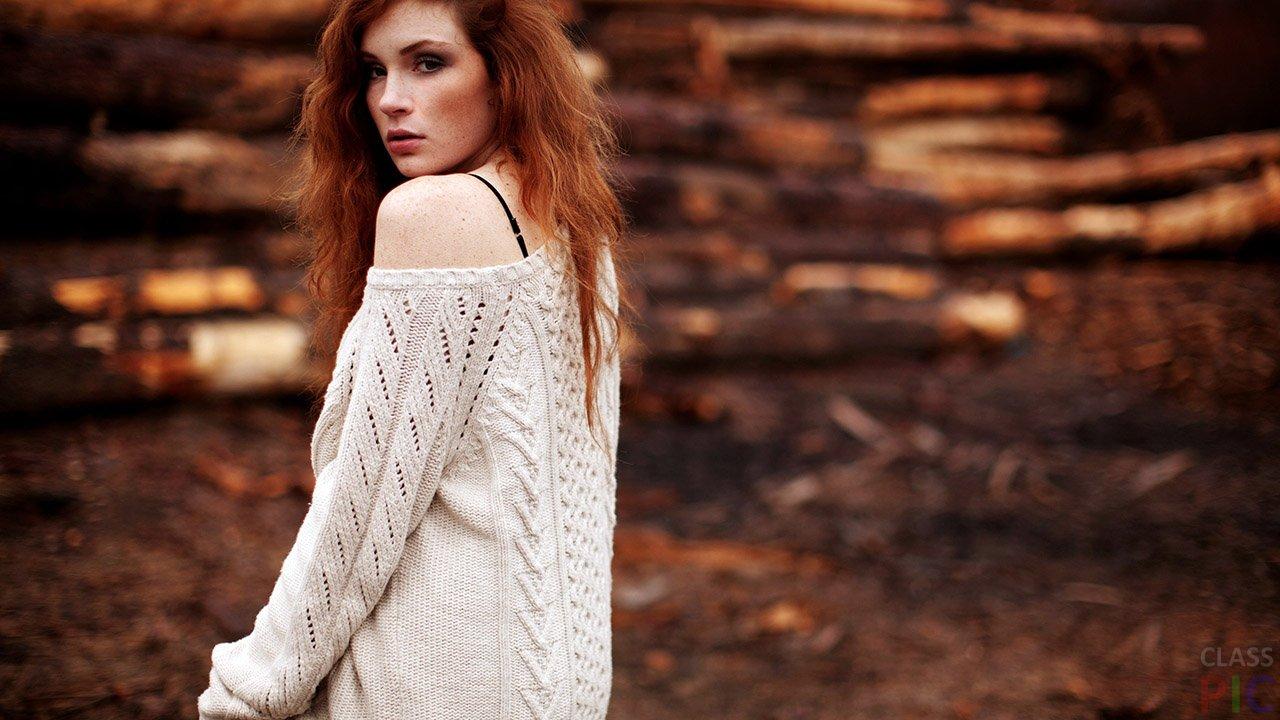 Фото девушек со спины осенью