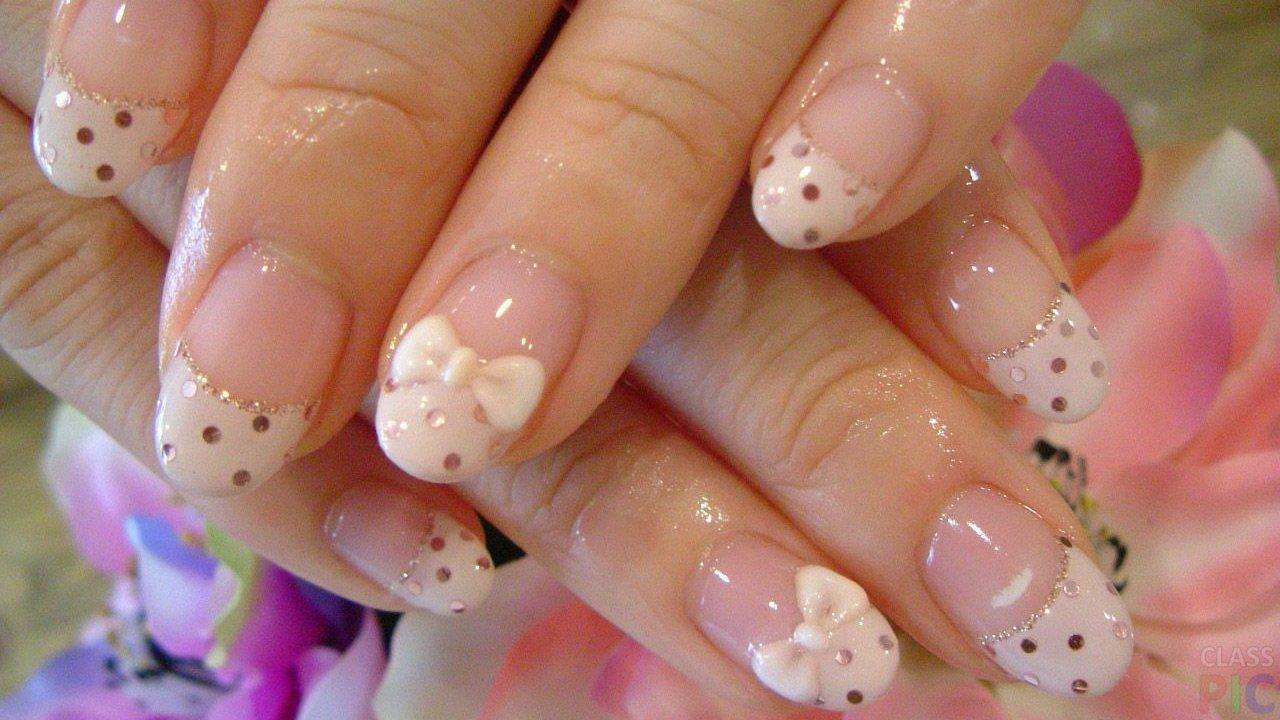 нарощенные ногти френч картинки короткие
