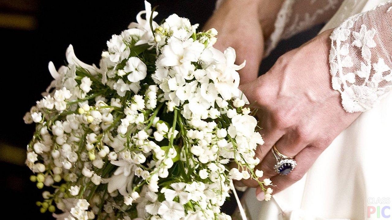Корзины, свадебные букеты королевских свадеб