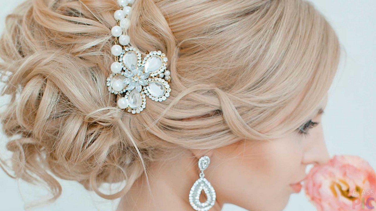 Свадебные причёски (50 фото)
