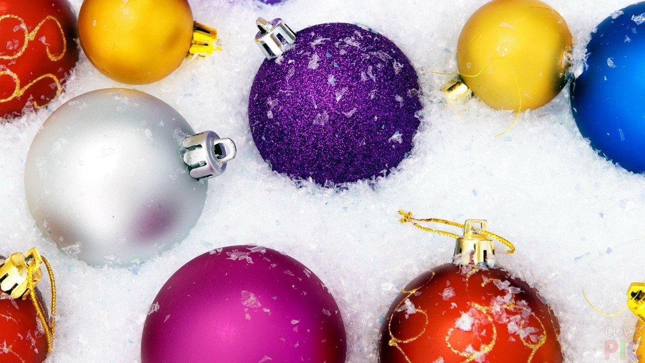 Новогодние  шары (48 фото)