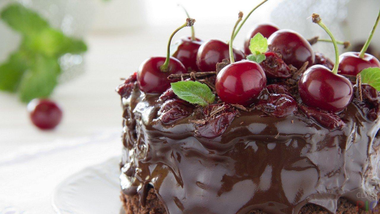 Торт с вишней (23 фото)