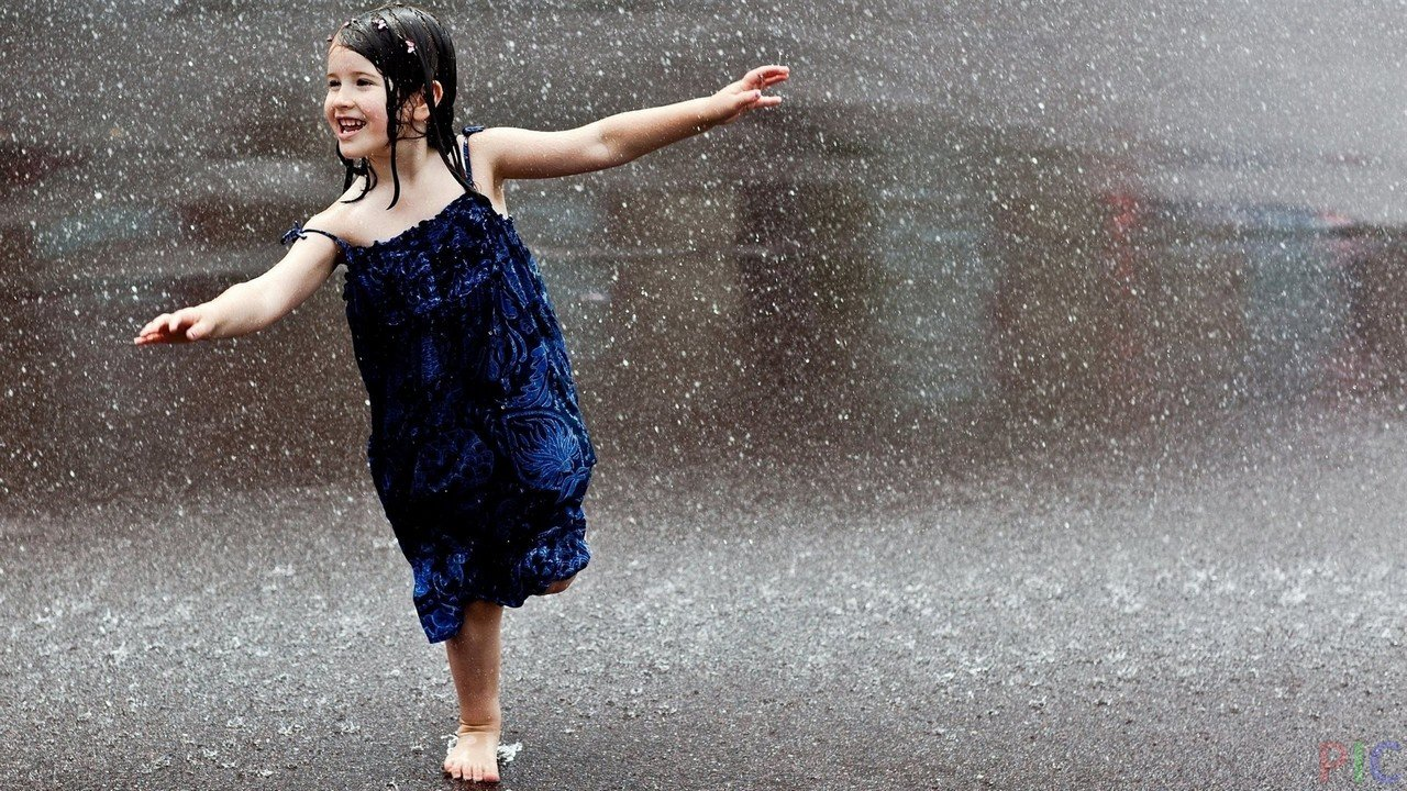 Фото под дождём