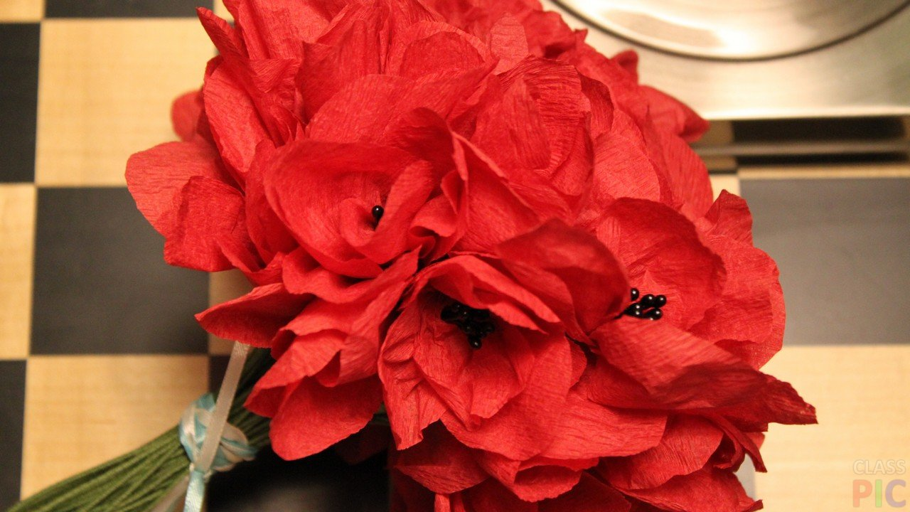 Фото цветов из бумаги