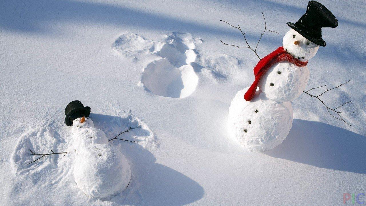 Фото следов на снегу