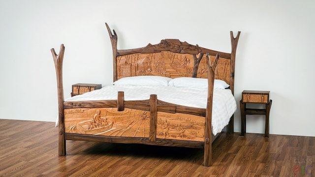Деревянные кровати (31 фото)
