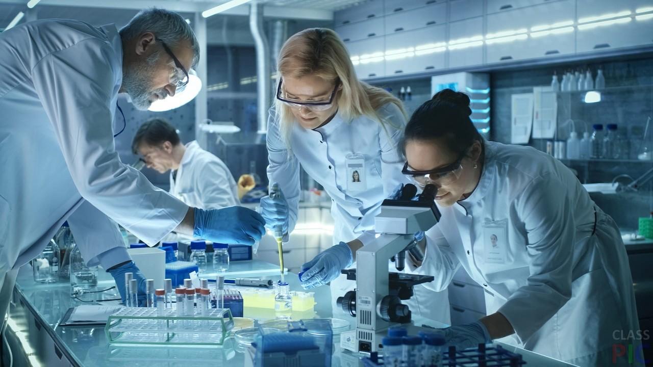 Ученый в лаборатории картинка