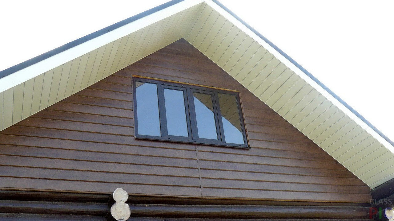 фронтоны домов фото сайдинг