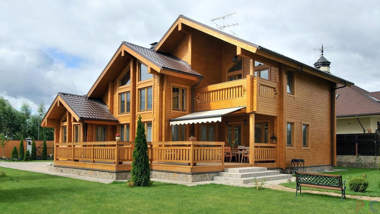 Частный деревянный дом (36 фото)